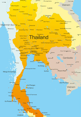 Karte Thailand Kambodscha.Thailand Leo Auf Reisen Com