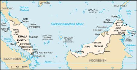 malaysia-landkarte